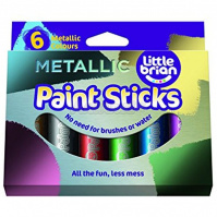 Набор 6 цв. краска-карандаш Paint Sticks metallic, LBPS10MA6