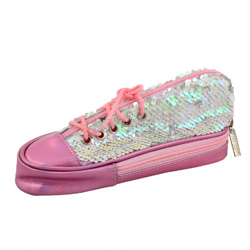 "Пенал мягкий  TP-24 ""Sneakers with sequins"" pink, 23,5*10*8,5, 532723"