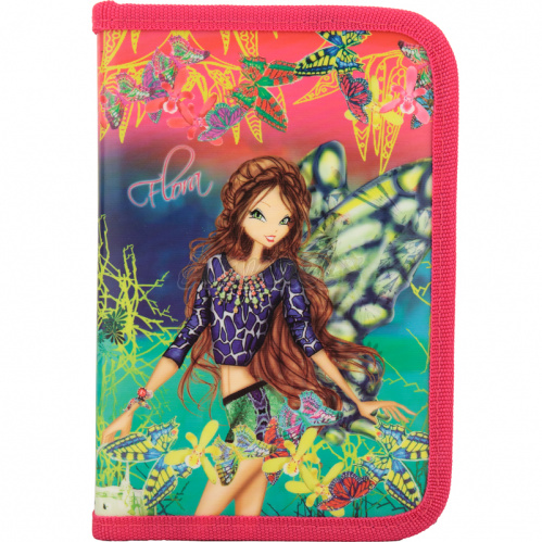 Пенал без напол. 622 Winx fairy couture-1, Kite W17-622-1
