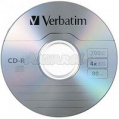 Диск CD-R 700MB Verbatim 52x Shrink 10 pcs Extra 43725
