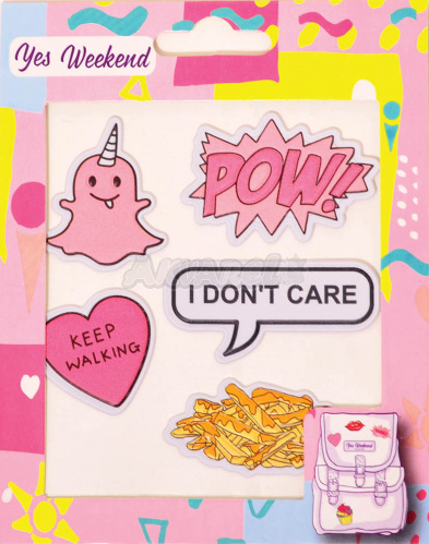 "Набор наклеек ""Patch stiker"", I don't care 554321"