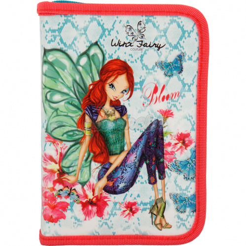 Пенал без напол. 622 Winx fairy couture-2, Kite W17-622-2