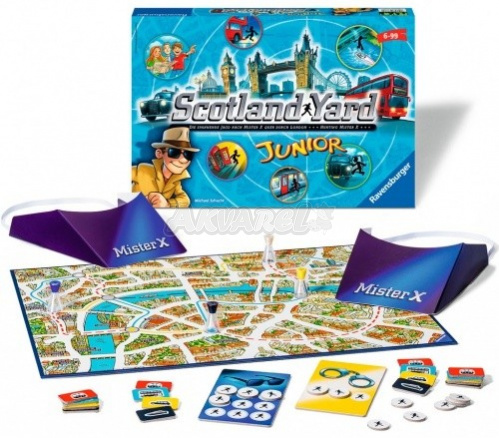 "Настольная игра ""Junior Scotland Yard"" Ravensburger, 82402  доставка"